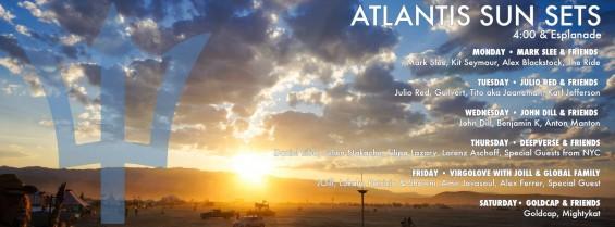 Burning Man Atlantis Sunsets Lineup 2015 // DeeplyMoved