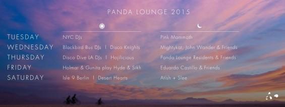 Burning Man Panda Lounge 2015 Lineup // DeeplyMoved