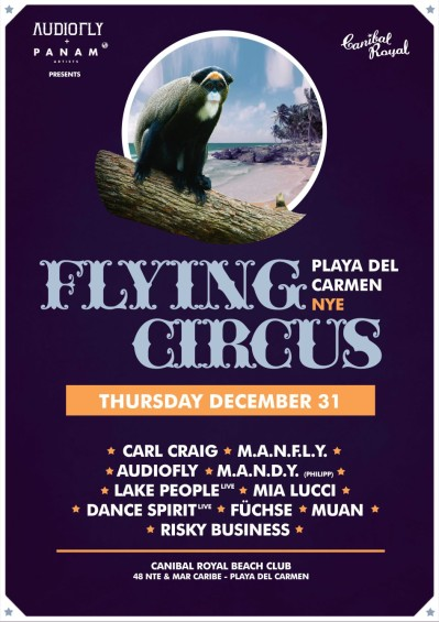 Flying Circus New Years Eve Playa del Carmen // DeeplyMoved